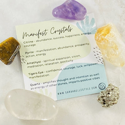 Healing crystal energy for manifesting