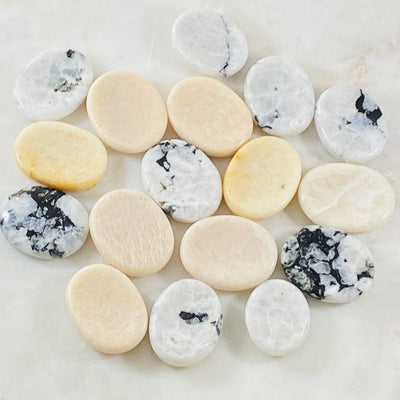 Moonstone worry stones for anxiety
