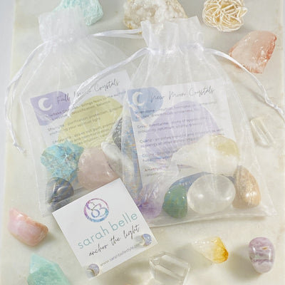 Moon lovers bundle with crystals and earrings