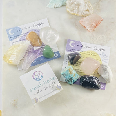 New and Full Moon Crystals with Earrigns