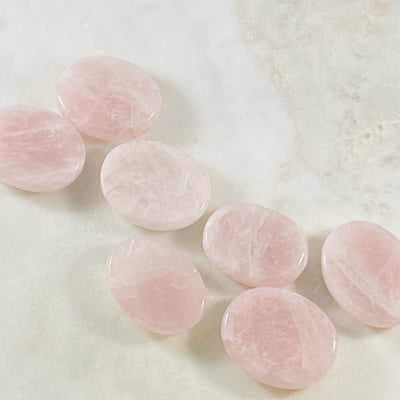 Rose quartz worry stone for relieving stress