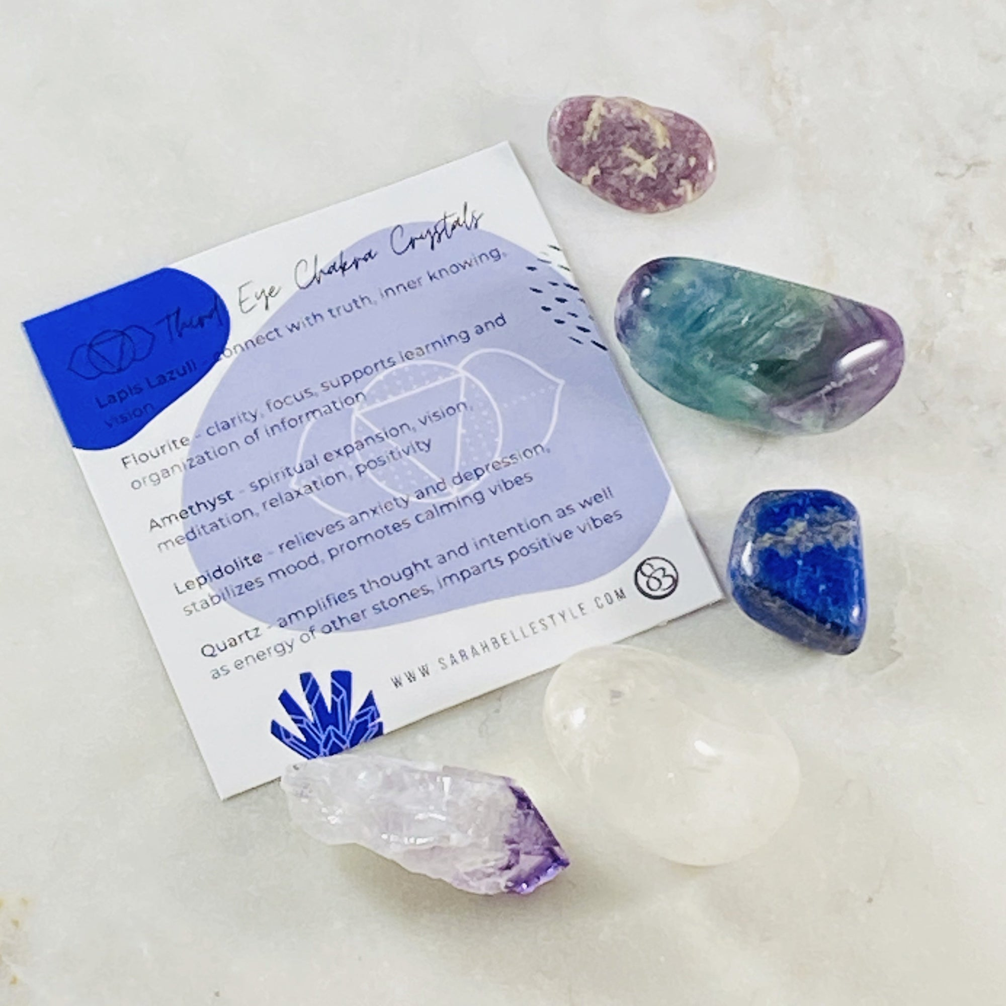 third eye chakra healing crystals for balance