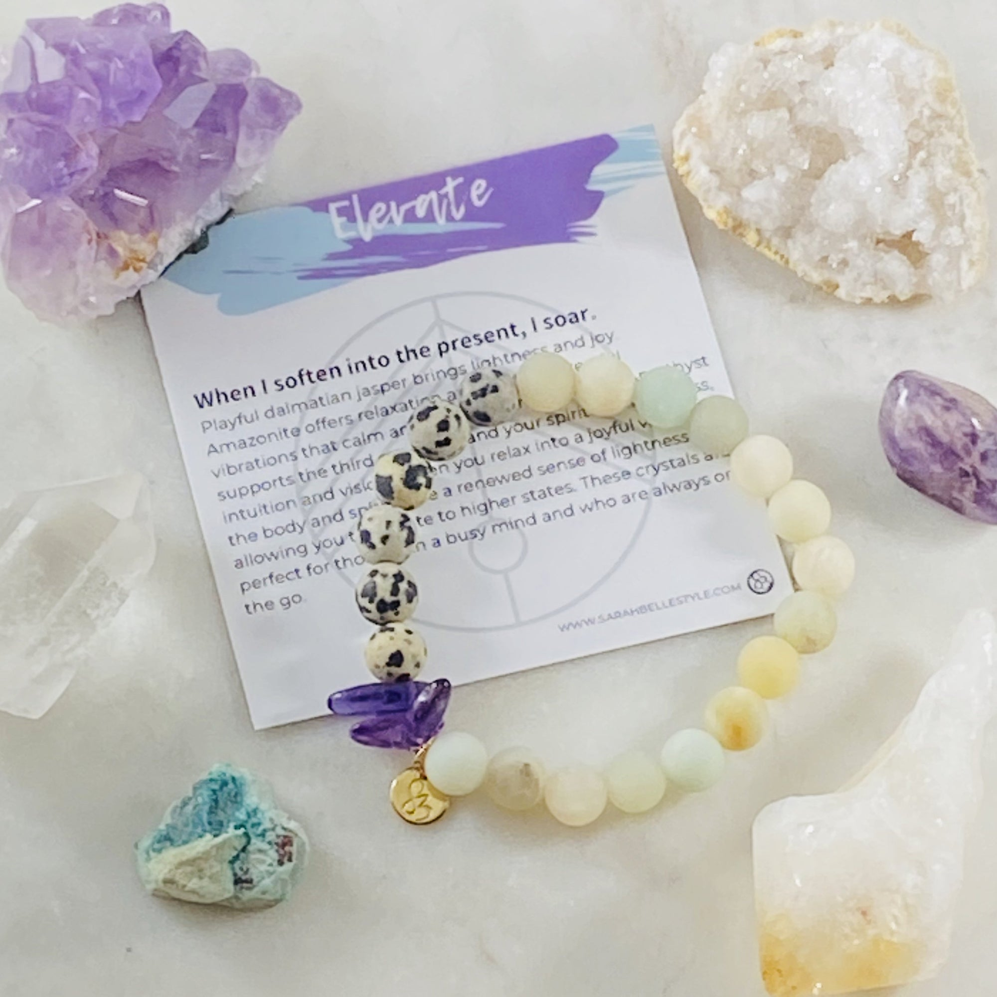 Sarah Belle Elevate Gemstone Stacking Bracelet