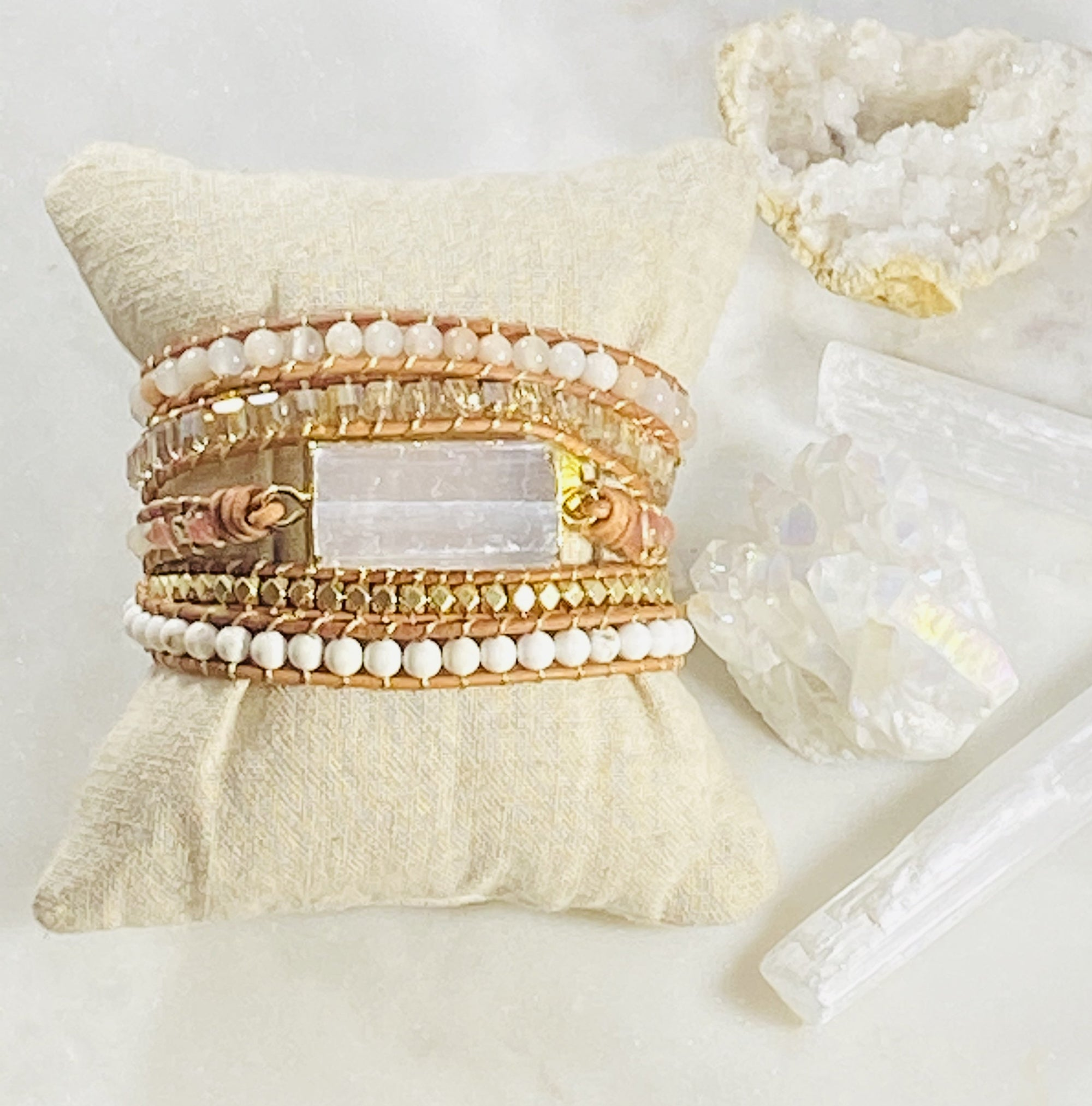 Selenite Wrap Bracelet
