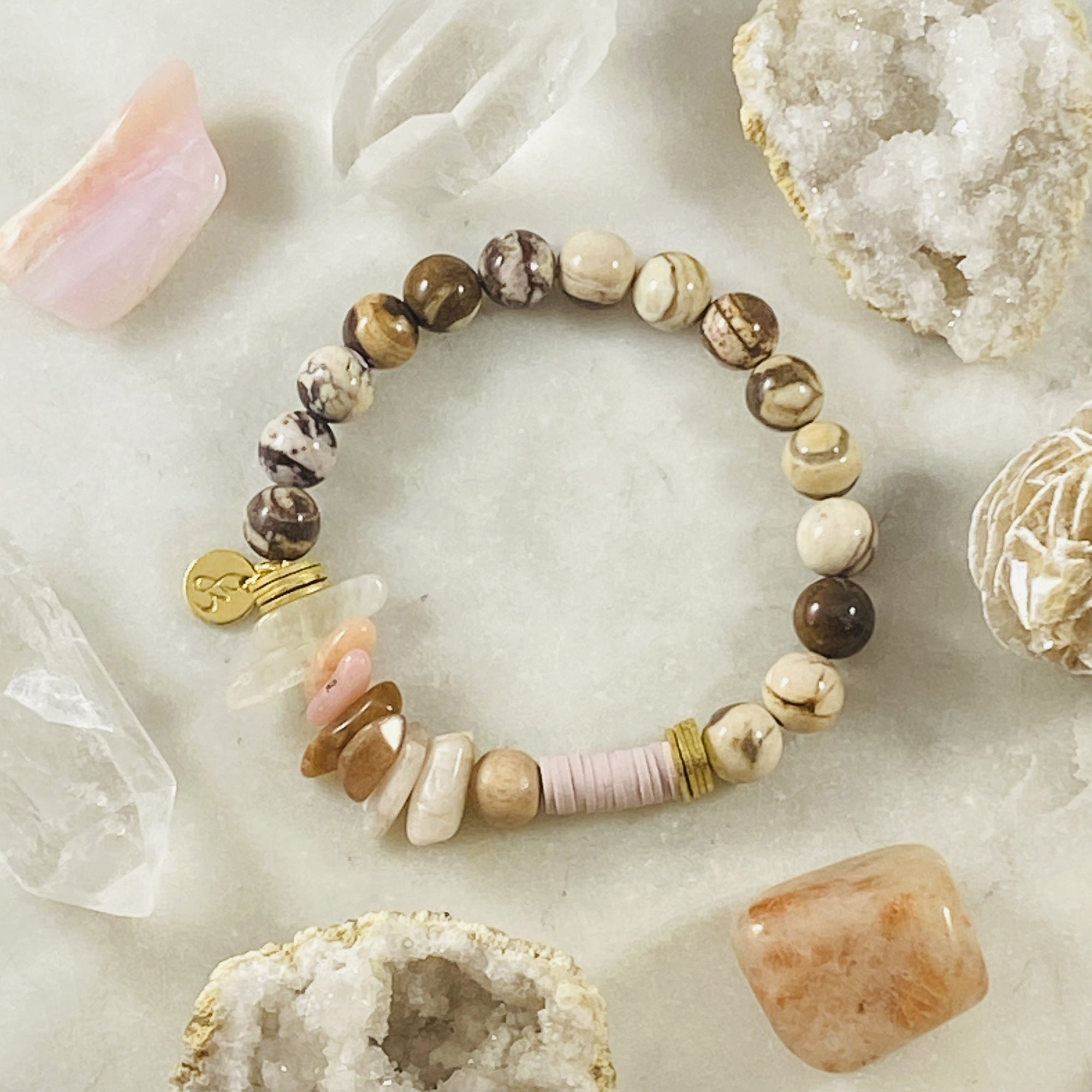 Handmade gemstone bracelet for self-love