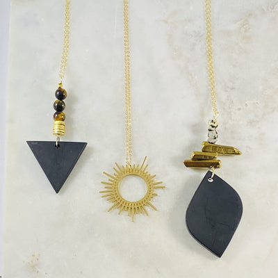 Handmade necklaces by Sarah Belle for inspiring the spirit and offering energetic protetion