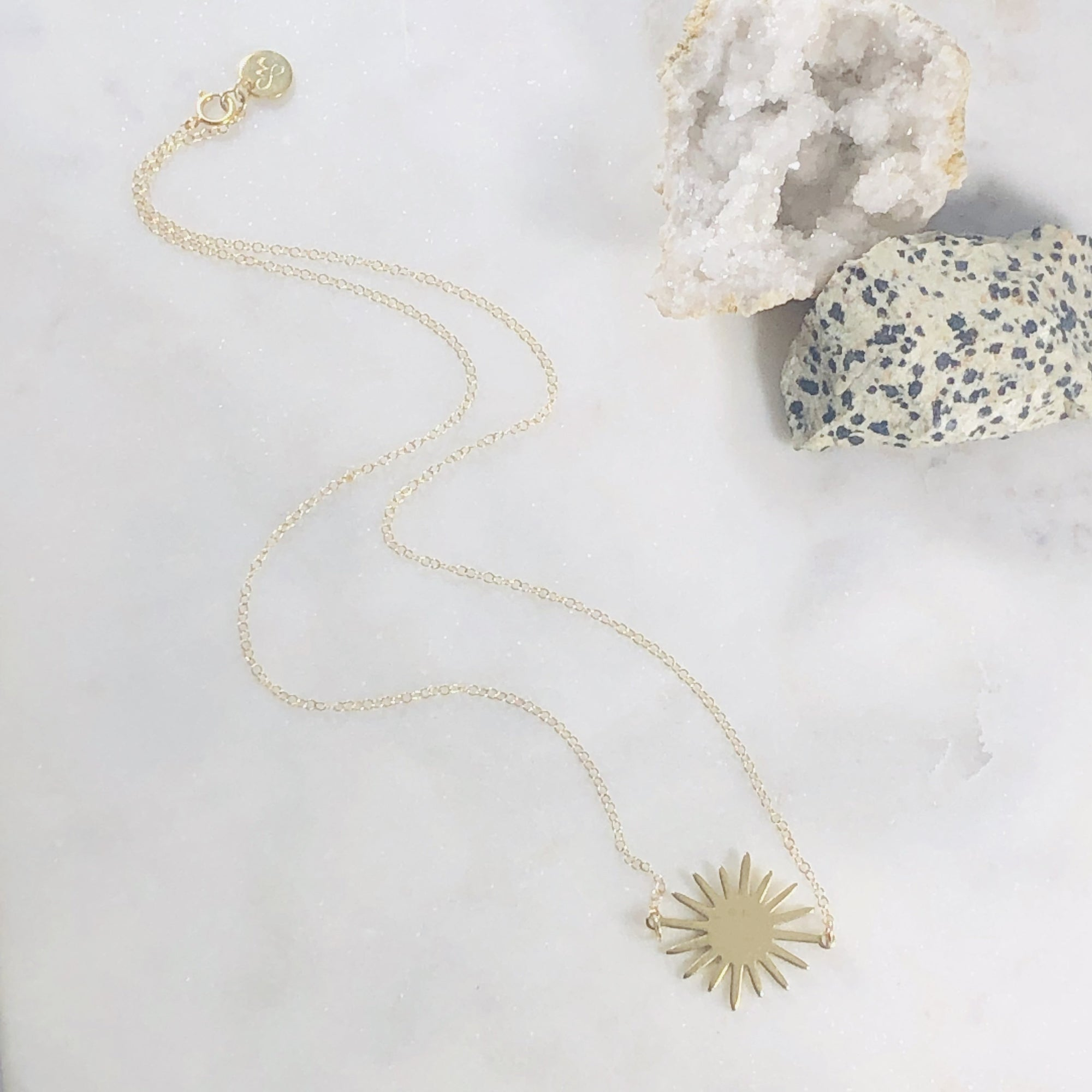 Handmade soleil necklace, jewelry with meaning