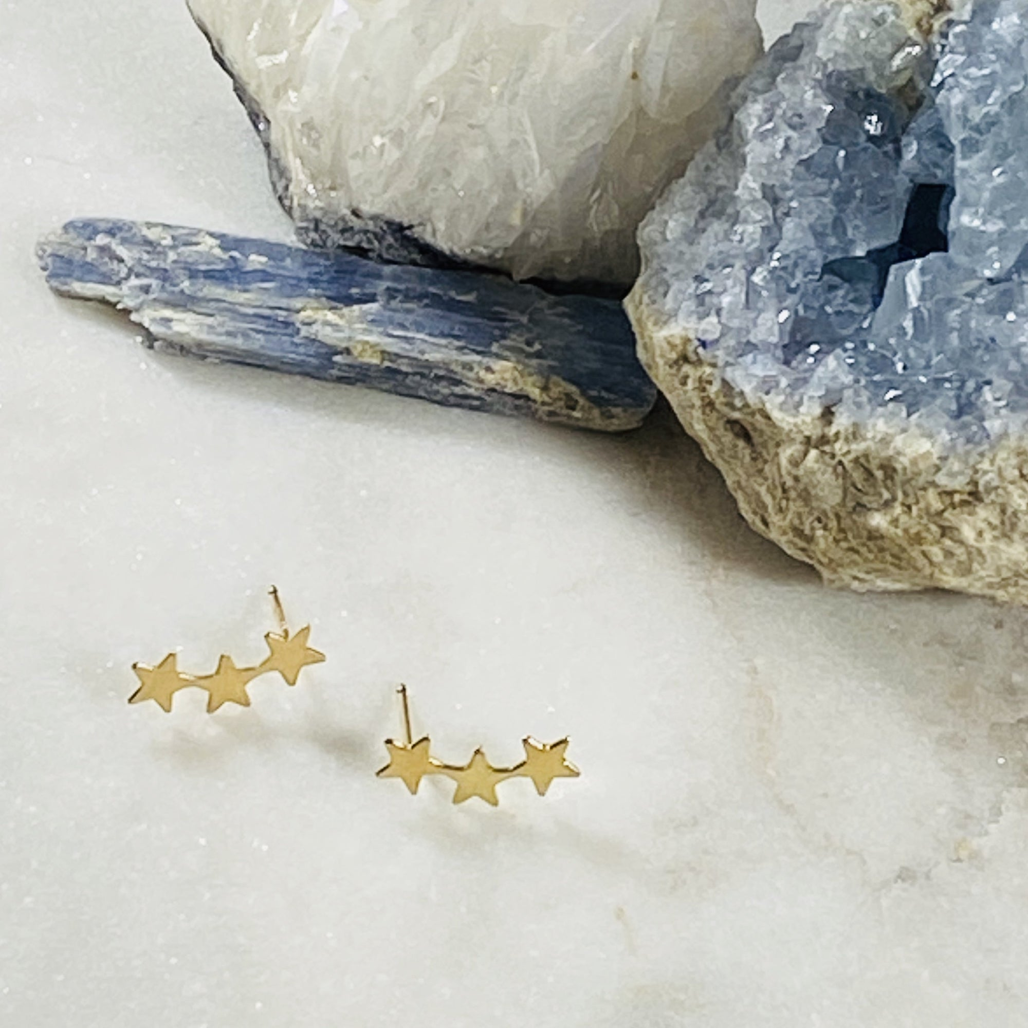 Gold filled star ear climbers