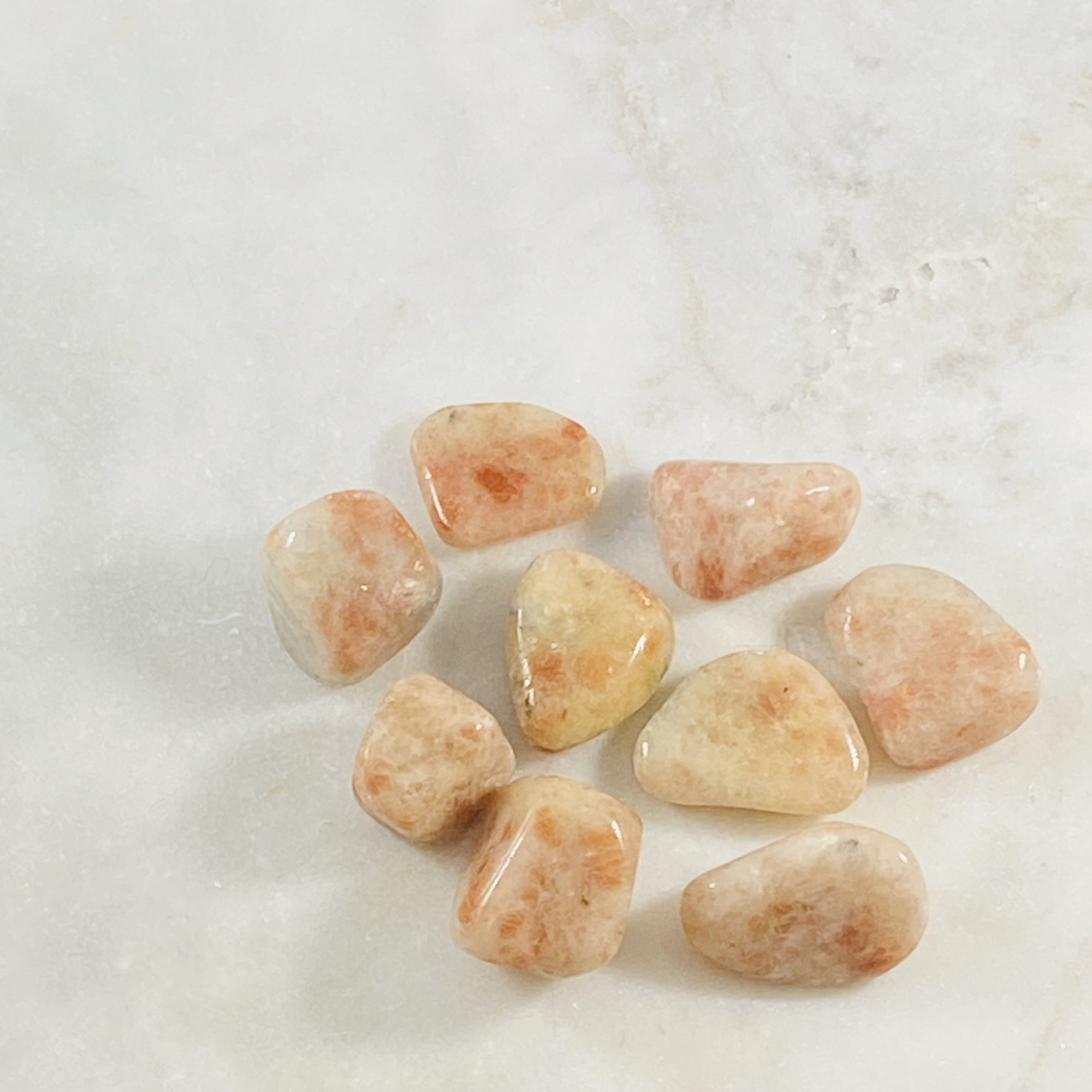 Sunstone Tumbled Stone Healing crystal energy for joy and leadership
