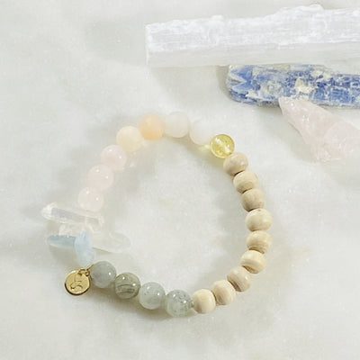 Handmade healing crystal bracelet for raising your vibration