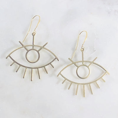 Handmade third eye statement earrings perfect for a yogi