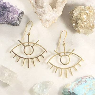 Handmade third eye statement earrings for enlightenment