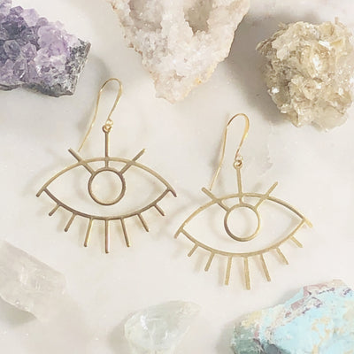 Handmade third eye statement earrings for higher consciousness
