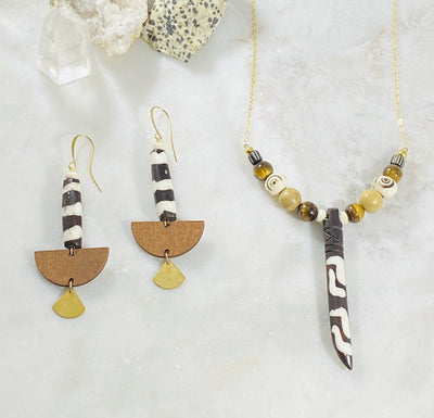Handmade tribal jewelry with healing crystal energy by Sarah Belle