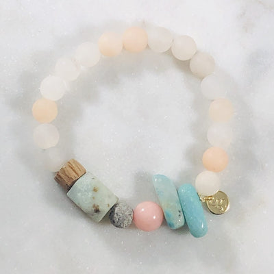 Tranquil Stacking Bracelet (Diffuser) Intuitively Created with Soothing and Calming Crystals