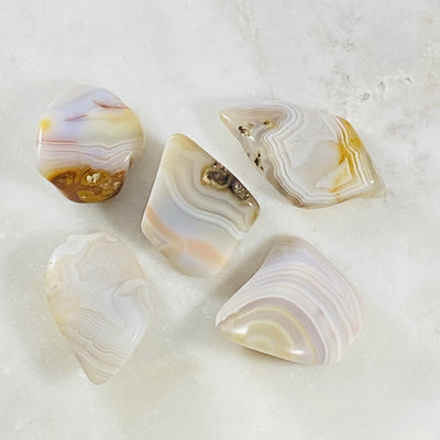 Banded agate for balance