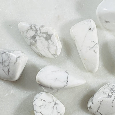 Tumbled Howlite Healing Crystal Energy for Communication and Sleep