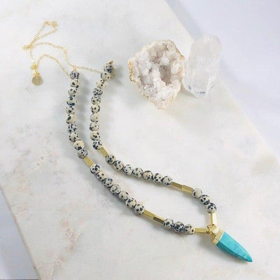 Jupiter Turquoise Howlite Point Necklace