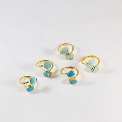 Turquoise Wrap Ring for a Modern, Boho Style