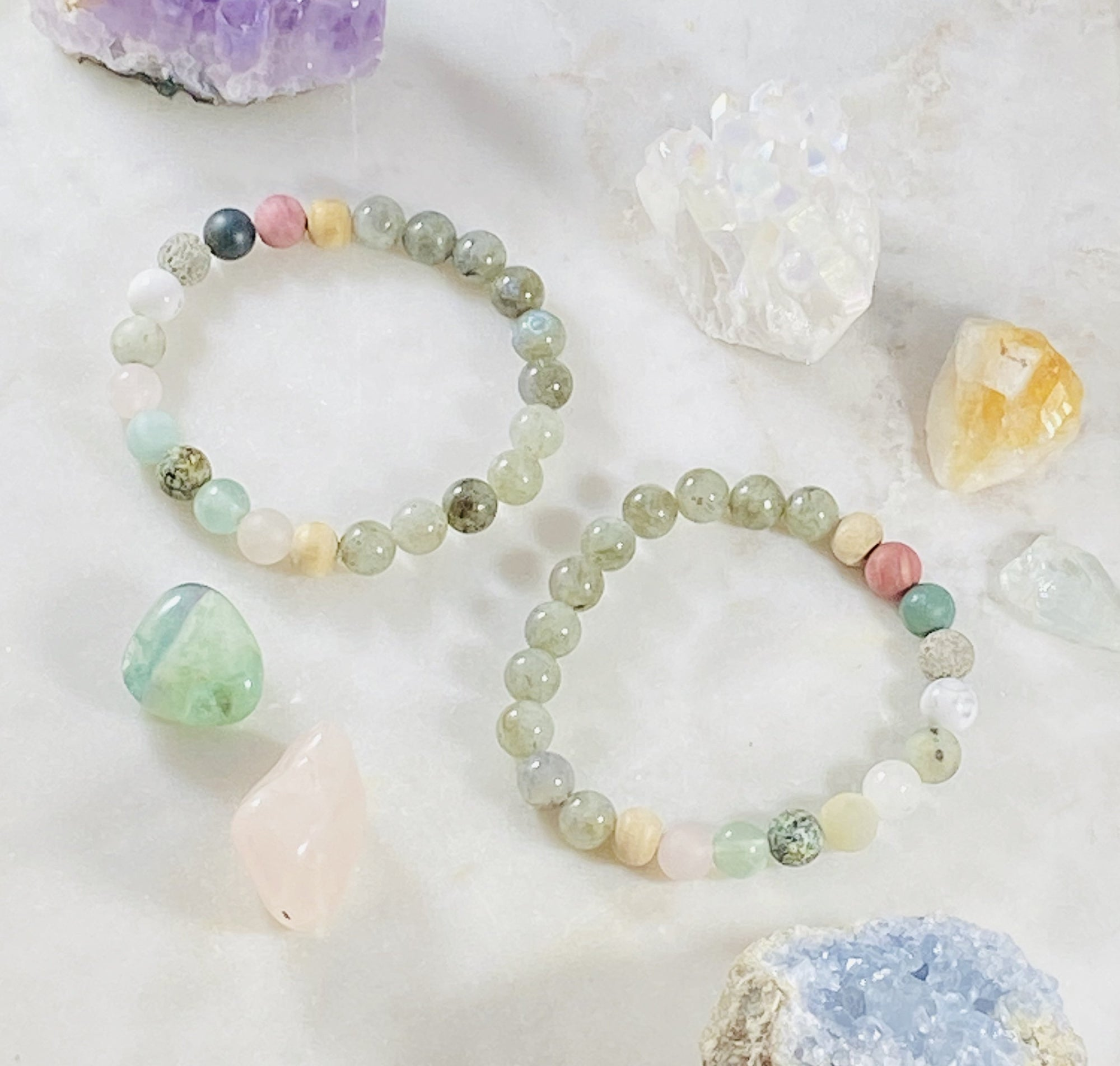 Healing crystal bracelets for raising your vibration