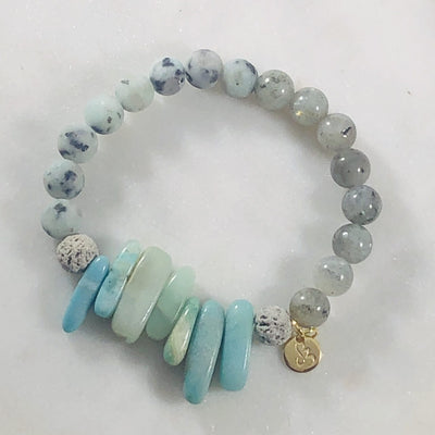 Wholeness Stacking Bracelet (Diffuser) Intuitively Created for Balancing the Chakras