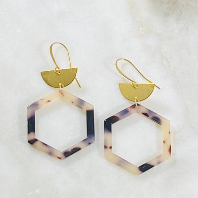 Handmade tortoise earrings for modern minimalist style