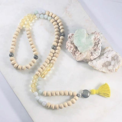 Mala Making Kit - Abundance Intentionally Created Healing Meditation Jewelry