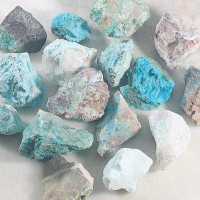 Chryscolla Raw Stones Goddess Crystals for Communication