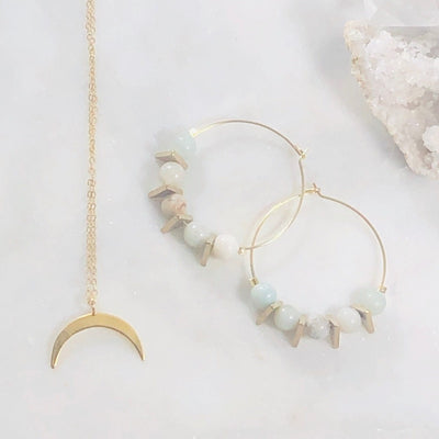 Crescent Moon Charm Necklace Intentionally Created for a Goddess Vibe