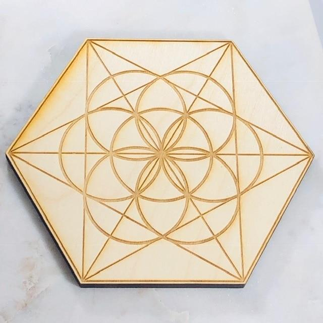 Seed of Life Wood Grid