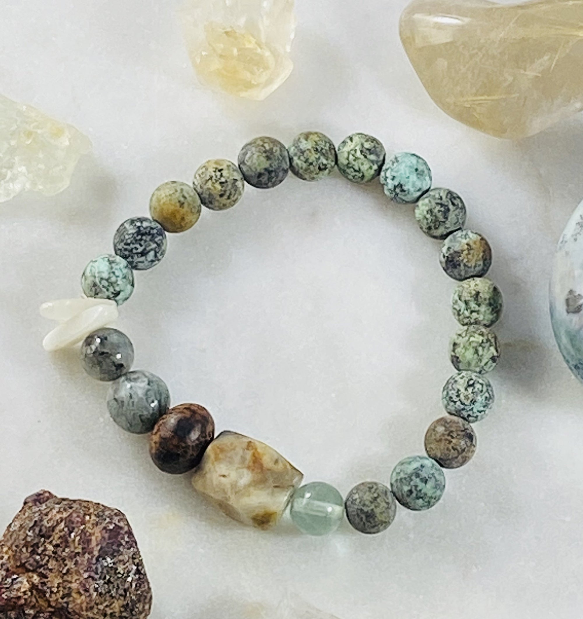 Handmade intuitively designed bracelet that is customized for your energy field