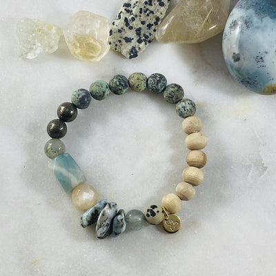 Healing crystal jewelry intuitively designed custom bracelet