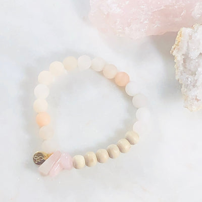 Handmade, healing gemstone bracelet to soften the heart