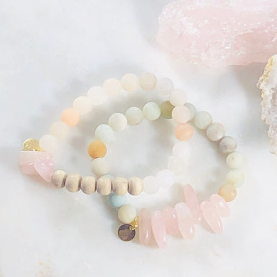 Handmade, healing gemstone bracelets to soften the heart and relax the mind
