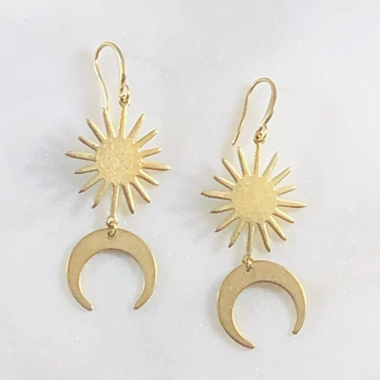 Elio Double Horn Earrings