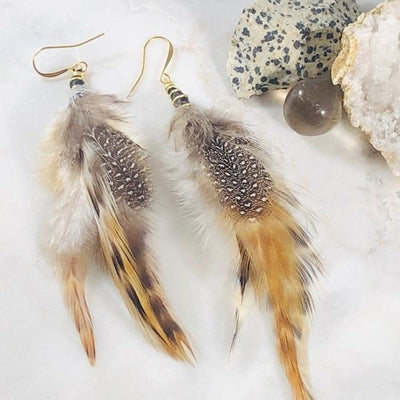 Feather Earrings Wild Heart Intentionally Created for Inspiring Connection and Oneness