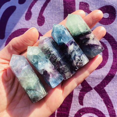 flourite points for clarity, focus and third eye support