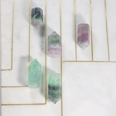 flourite point healing crystal