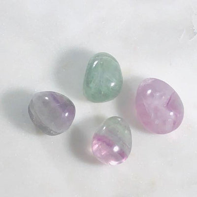 Flourite Tumbled Stones Polished Crystals for Energy Healing and Intuition