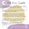 Full moon crystal recommendations by Sarah Belle
