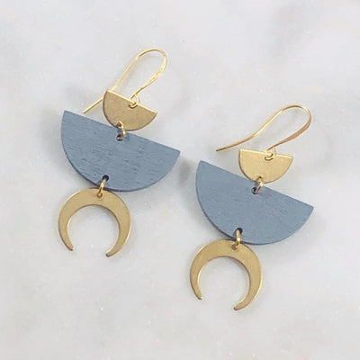 Jai Double Horn Earrings
