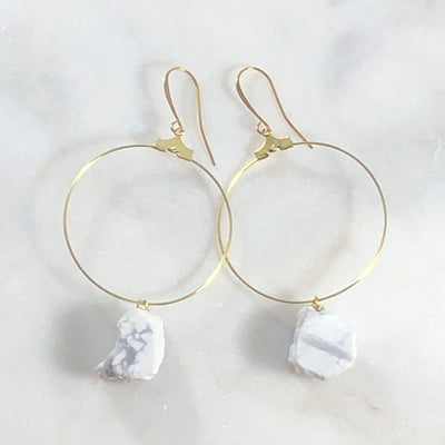 Jai White Turquoise Hoop Earrings