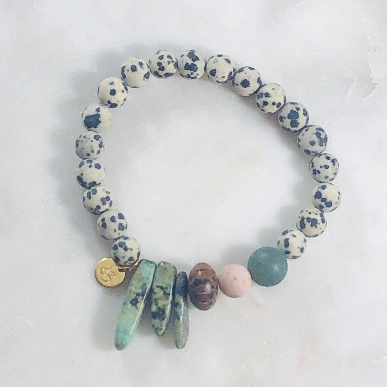 Joy Dalmatian Jasper Stacking Bracelet