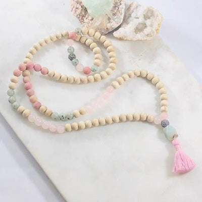 Love Tulsi Mala Intentionally Created Healing Meditation Jewelry for Opening the Heart