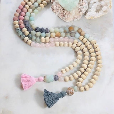 Mala Making Kit - Love Intentionally Created Healing Meditation Jewelry for Opening the Heart