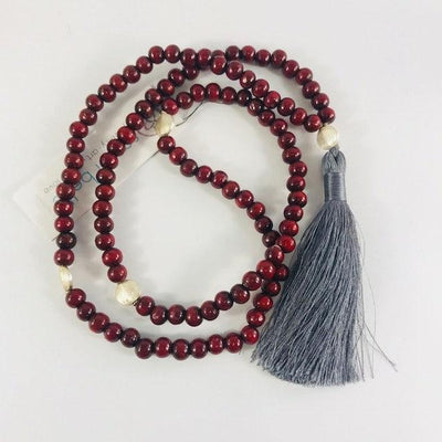Red Rosewood Mala Intuitively Made for your Meditation Practice