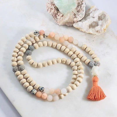Happy Tulsi Mala Intentionally Created Healing Jewelry for Wealth