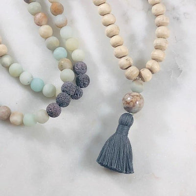 Mala Making Kit - Balance Intentionally Created Healing Meditation Jewelry for Grounding