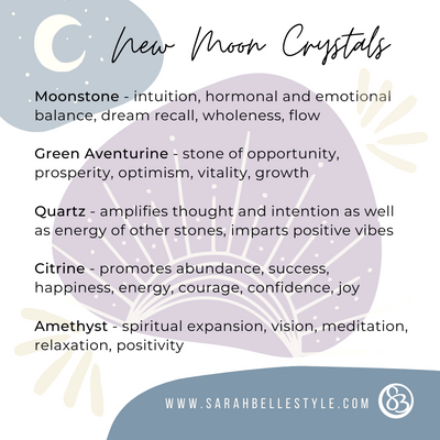 top picks for new moon crystals by sarah belle