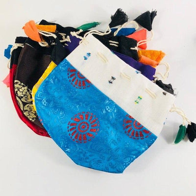 Tibetan Jewelry Bag Large Perfect for Storing Sacred Malas or Crystals